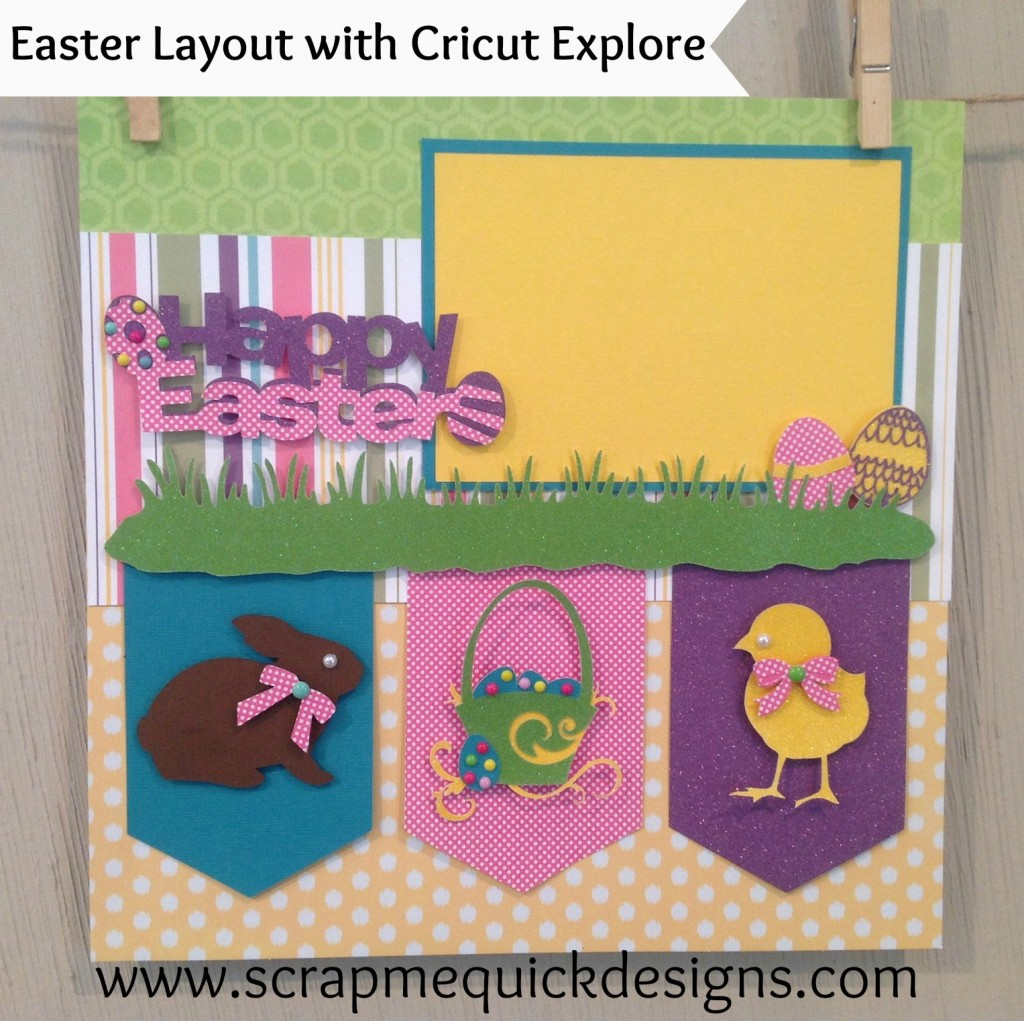 easter layout with tag