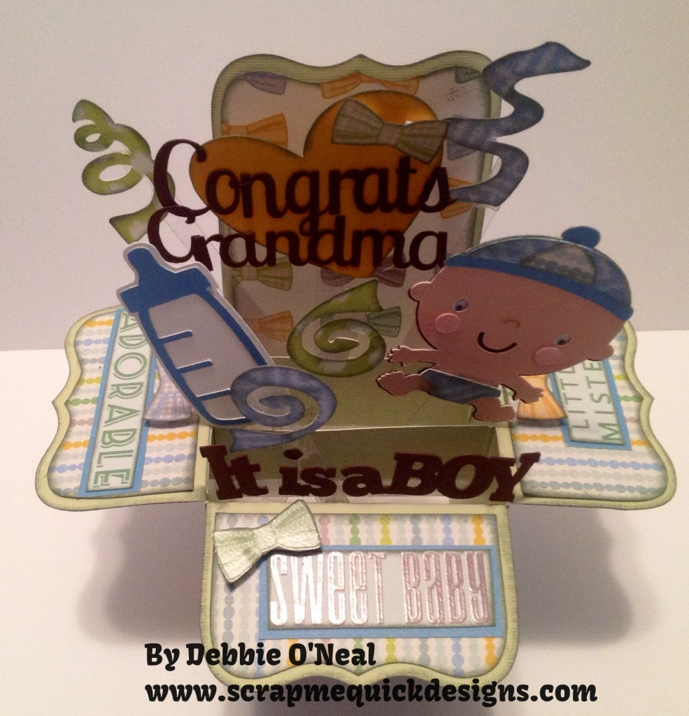 its a boy pop up box card 2
