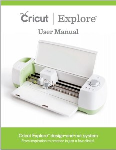 Cricut Explore User Manual Cover