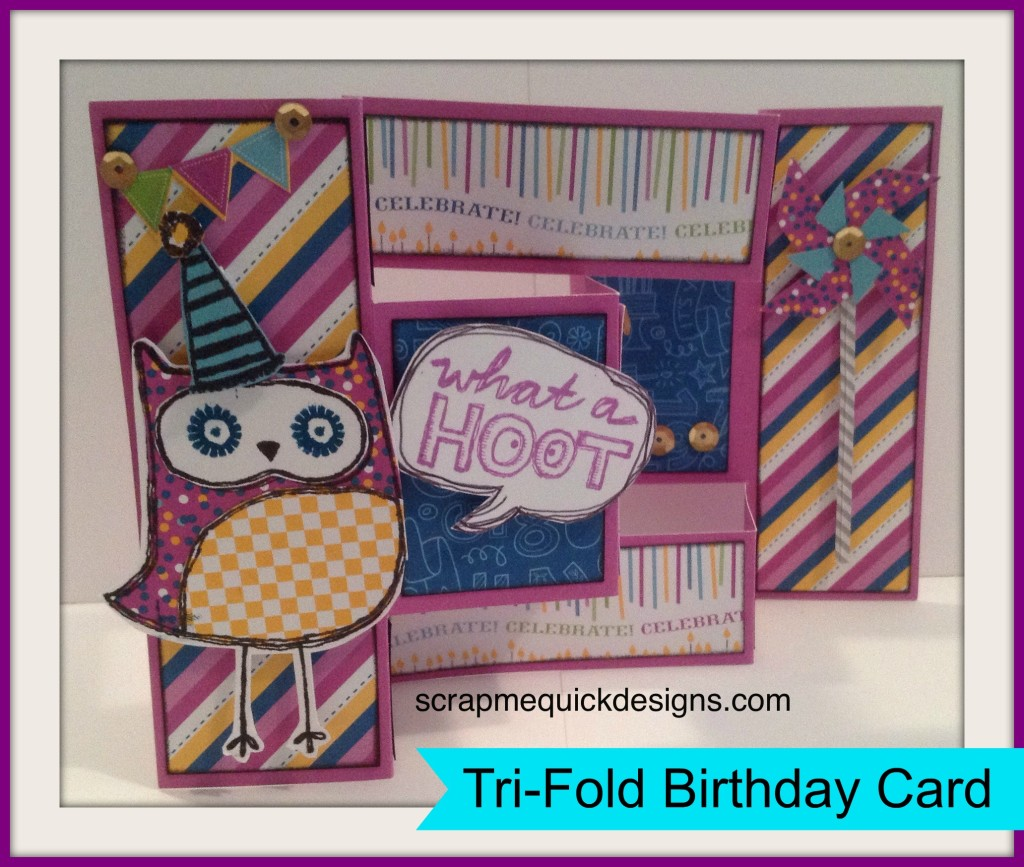 Tri Fold Birthday Card Outside