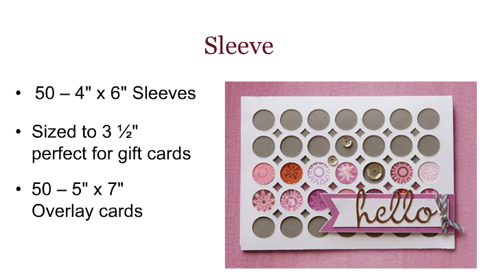 Artfully Sent Sleeve card