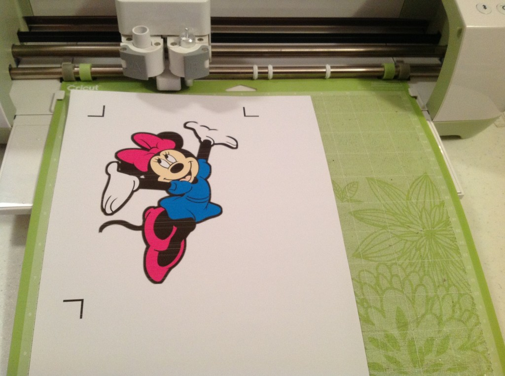 Minnie printed on Vinyl