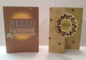 artfully sent card samples