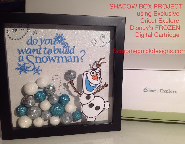 Do You Want to Build a Snowman Shadow Box