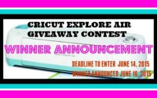 winner cricut-explore-air contest