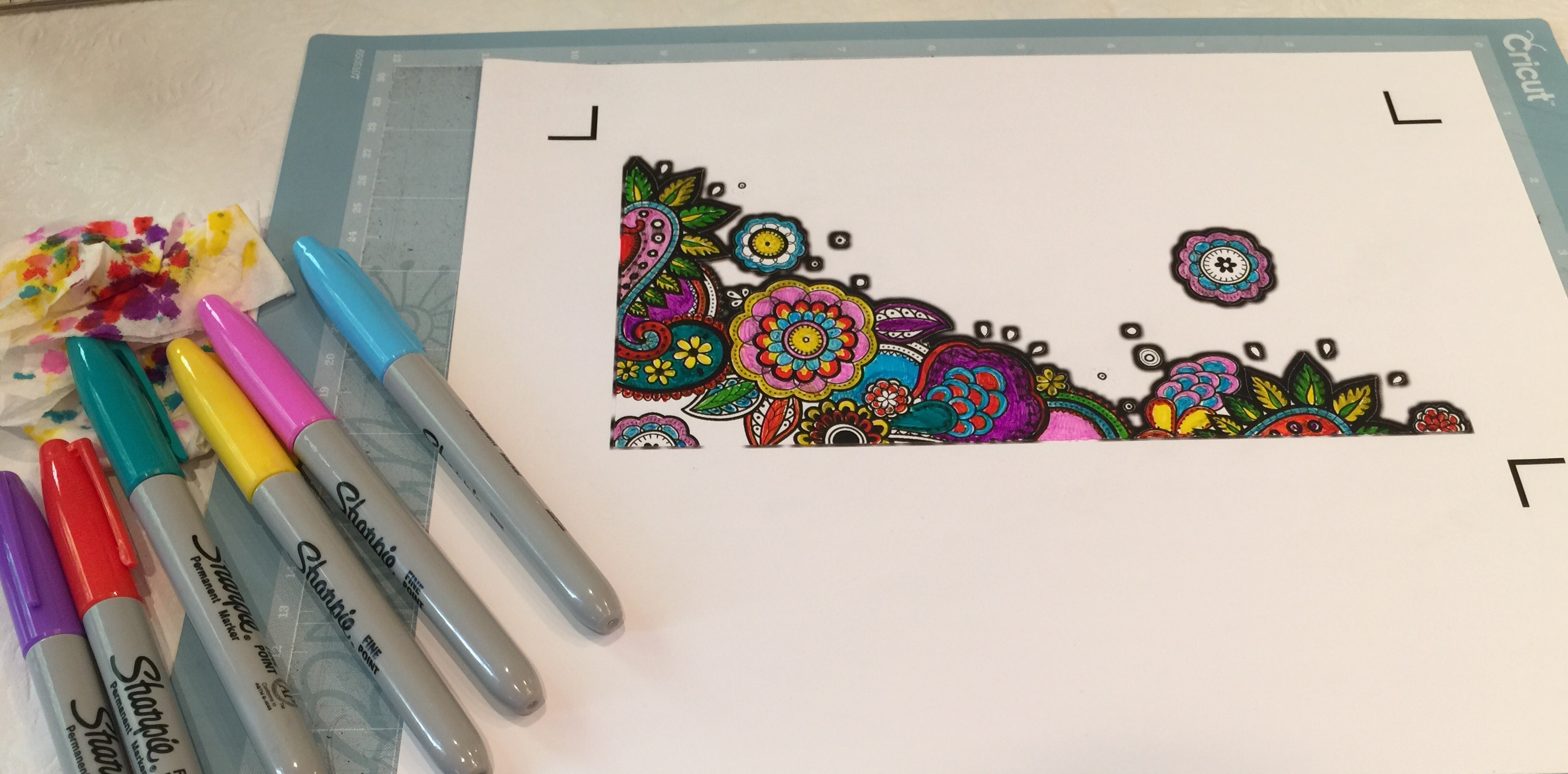 The coloring book vinyl - Since You Will Have Used An Ink Jet Printer Required For Cricut Printable Vinyl Let The Ink Dry A Few Minutes Before You Start Coloring