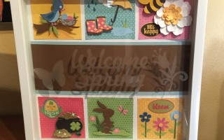 Welcome Spring Shadow Box Class
