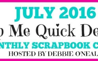 July SMQD Scrapbook Club
