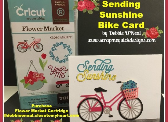 Cricut Flower Market Sending Sunshine Card