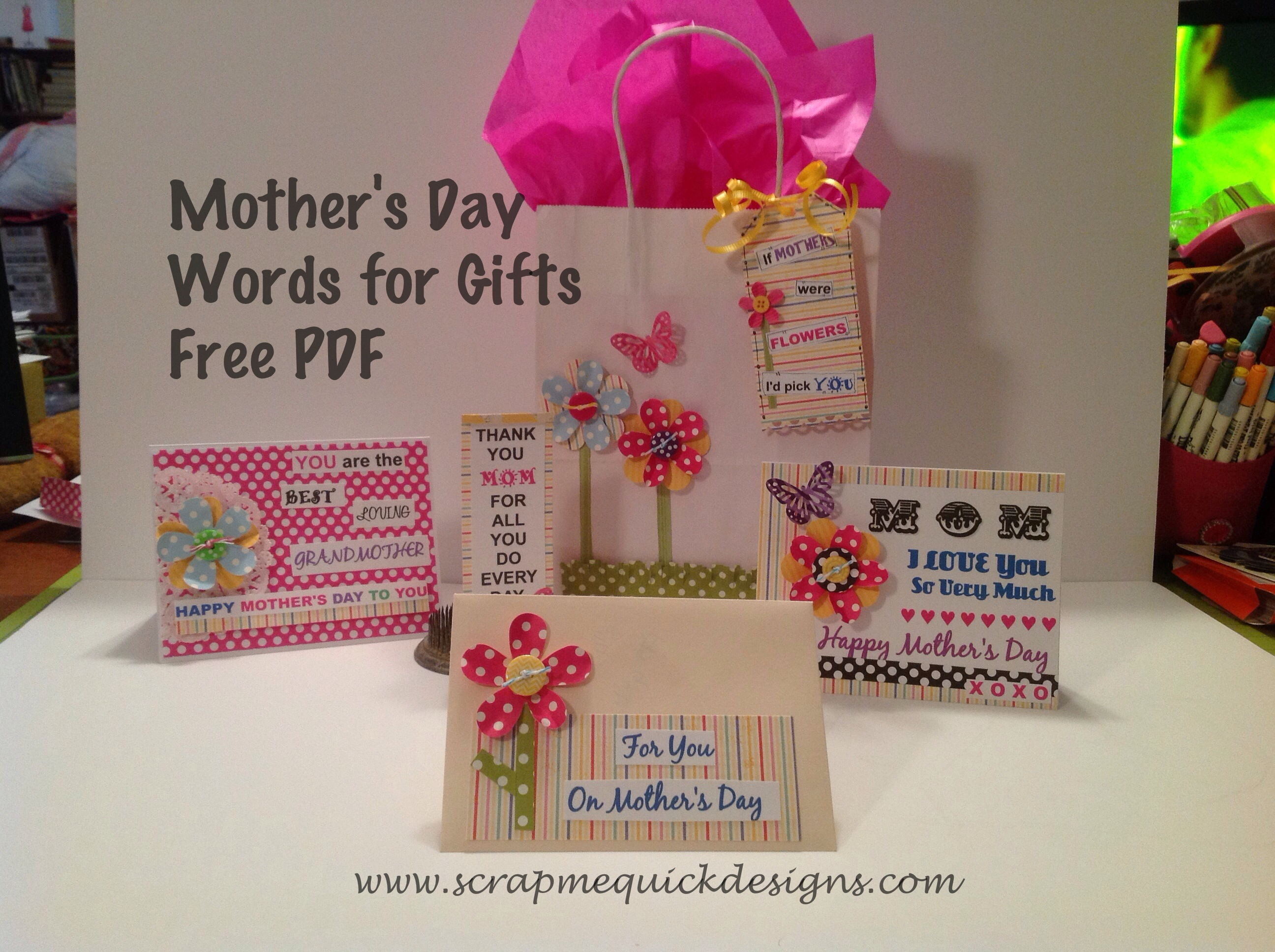 Classroom Design ~ Mothers day gift ensemble scrap me quick designs