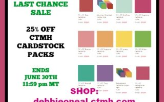 CTMH CARDSTOCK SALE ENDS TODAY !