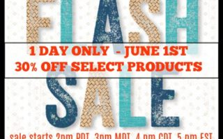 CTMH 1 Day Flash Sale Starts NOW !