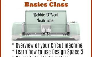 Cricut Design Space 3 Class Announcement